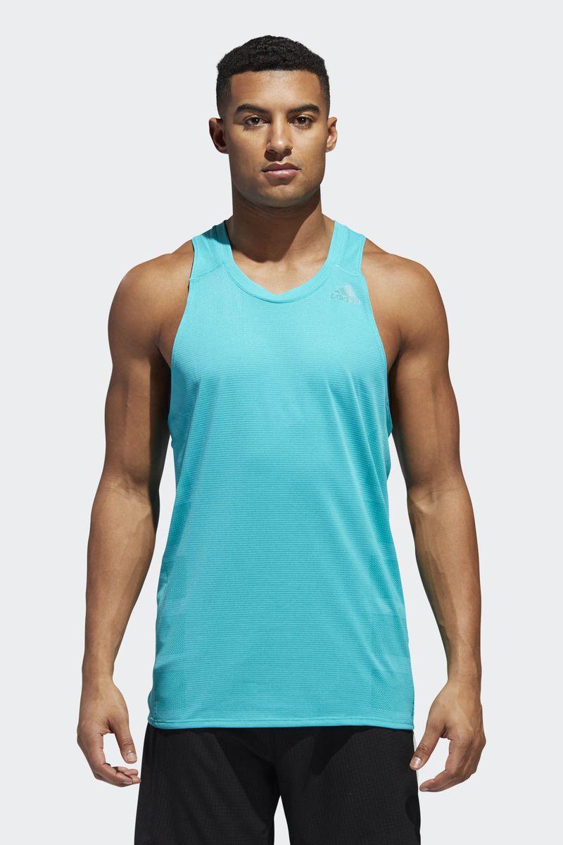 Майка мужская Adidas Supernova Tank, цвет: голубой. CZ8723. Размер XXL (60/62) толстовка мужская adidas regi18 tr top цвет черный cz8647 размер xxl 60 62