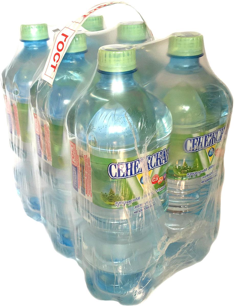 Вода минеральная Сенежская, 6 шт по 1 л сенежская вода малютка 5 л