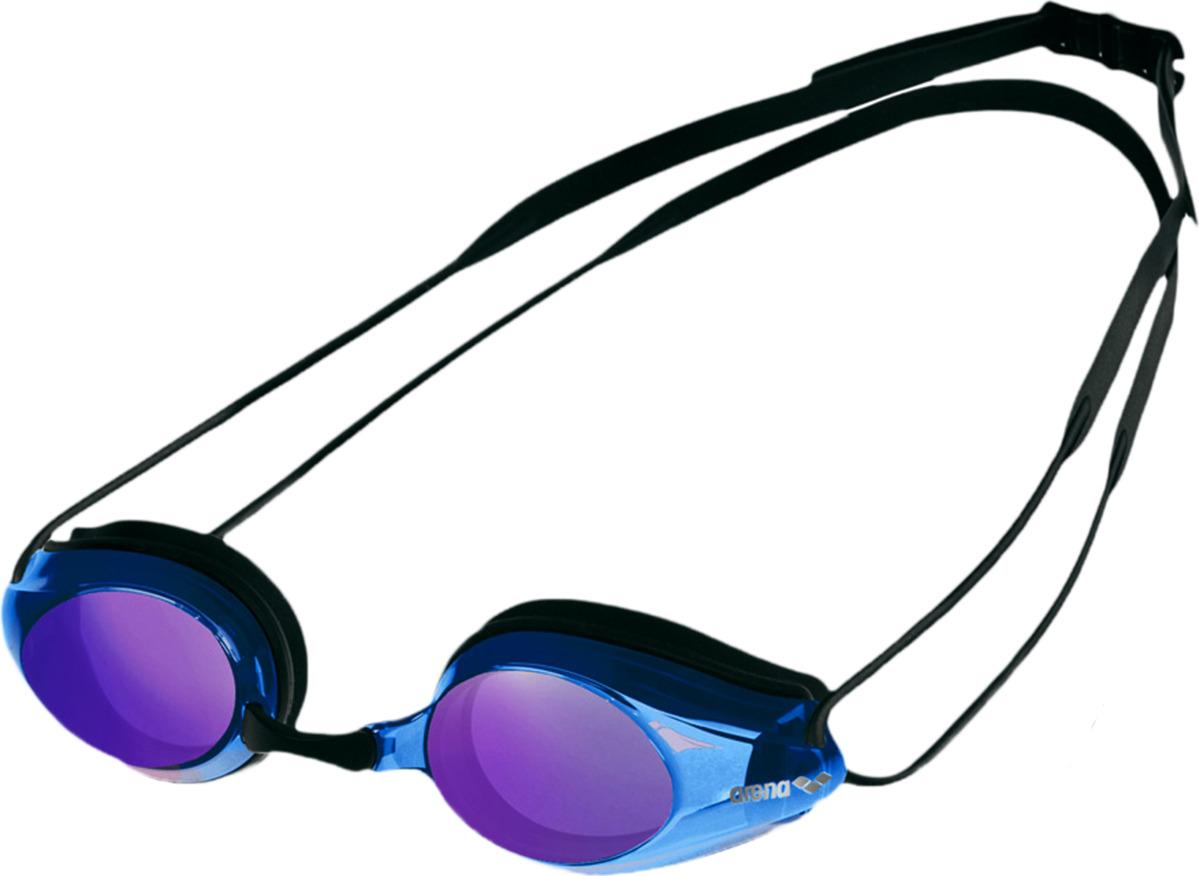 Очки для плавания Arena Tracks Mirror, цвет: черный, синий, фиолетовый. 92370 74 очки для плавания arena swedix цвет черный