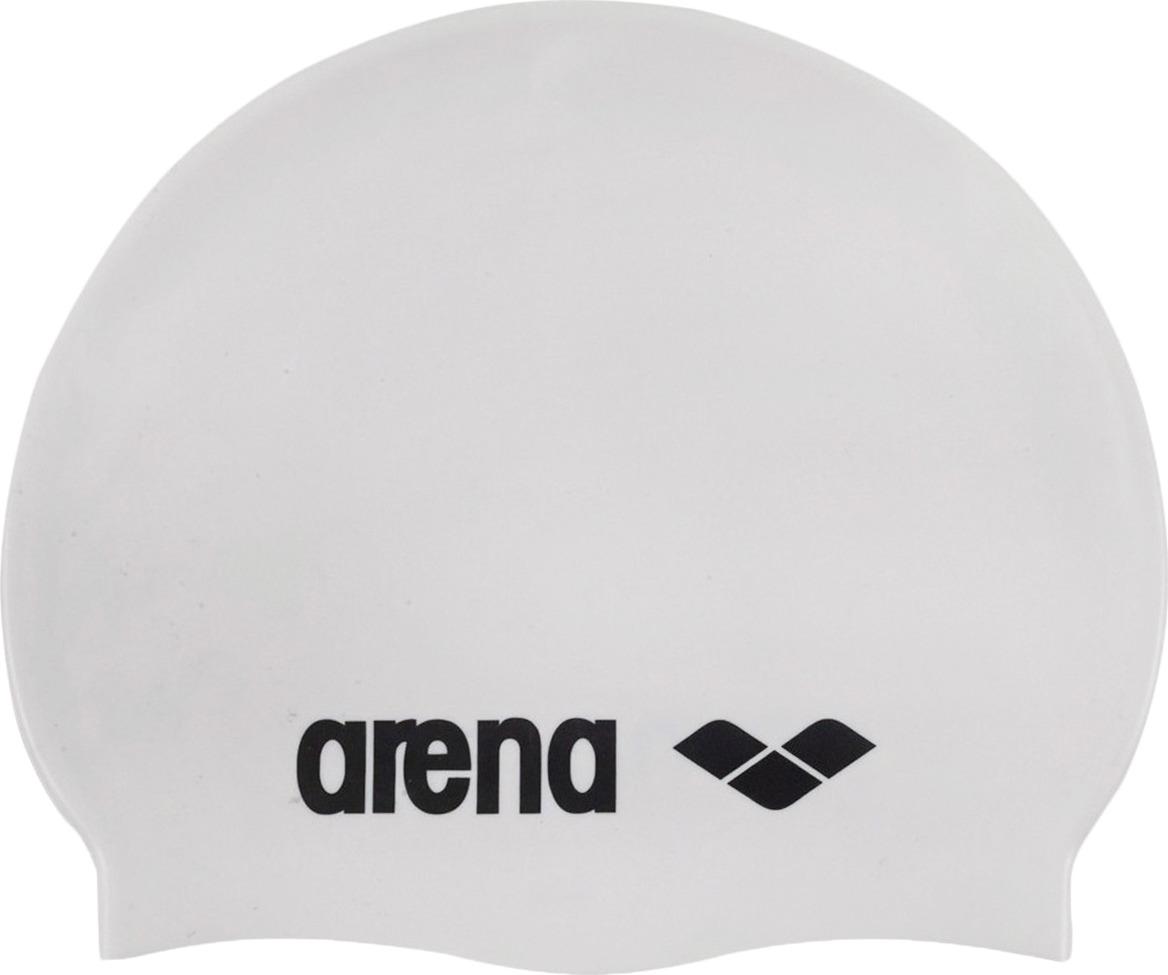 Шапочка для плавания Arena Classic Silicone Cap, цвет: белый. 91662 15 шапочка для плавания arena classic silicone белый