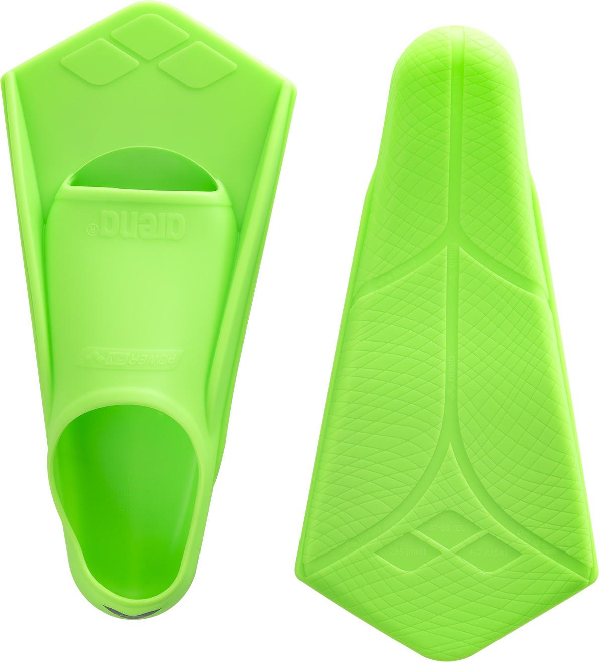 Ласты тренировочные Arena Powerfin, цвет:  зеленый.  Размер 41/42.  95218 65 Arena