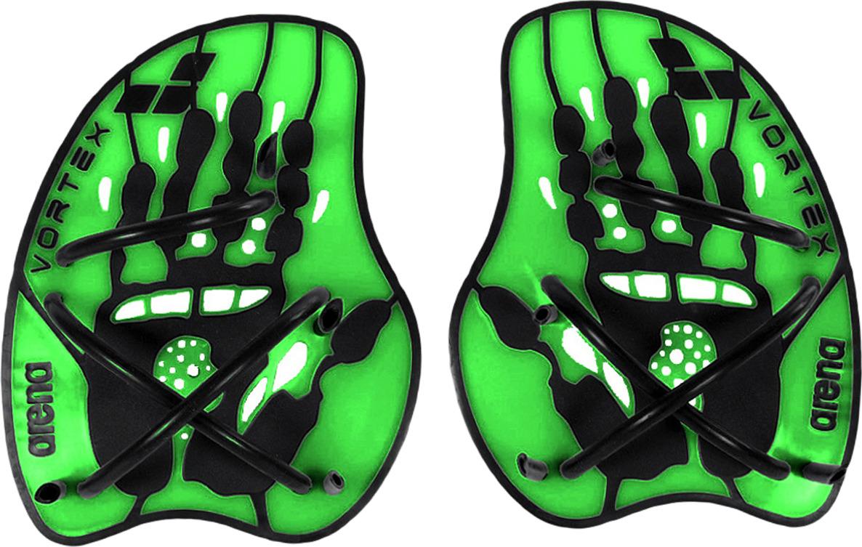 Лопатки для гребли Arena Vortex Evolution Hand Paddle, цвет:  зеленый, черный.  Размер M.  95232 65 Arena
