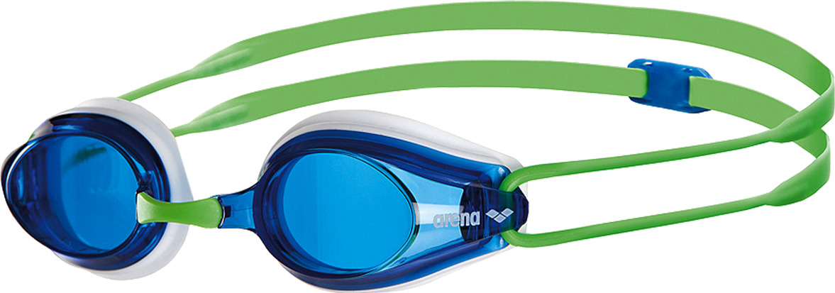 Очки для плавания Arena Tracks, цвет: зеленый, синий. 92341 67 шапочка для плавания arena polyester  цвет  темно синий