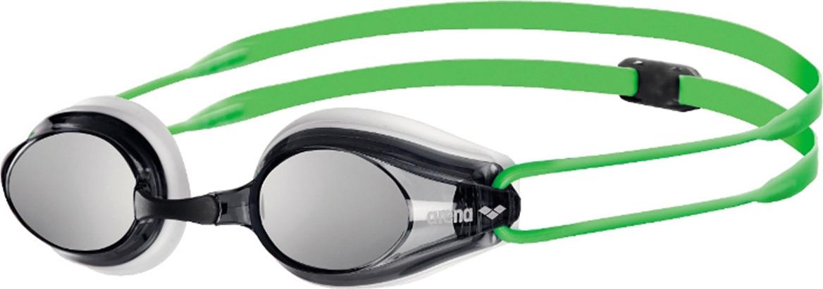 Очки для плавания Arena Tracks Mirror, цвет: зеленый, черный. 92370 66 очки для плавания arena swedix цвет черный