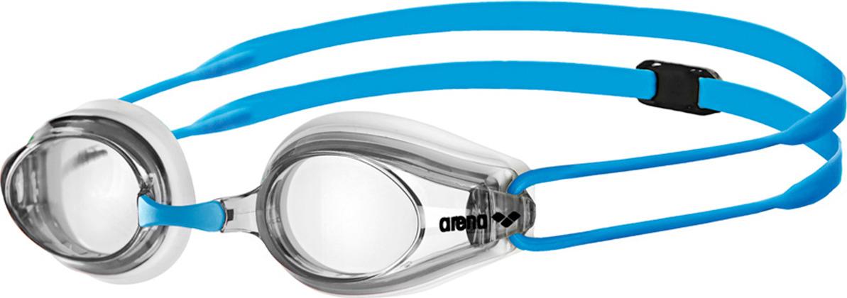 Очки для плавания детские Arena Tracks Jr, цвет: голубой. 1E559 17 очки для плавания детские speedo opal optical junior цвет голубой с диоптриями 5 5