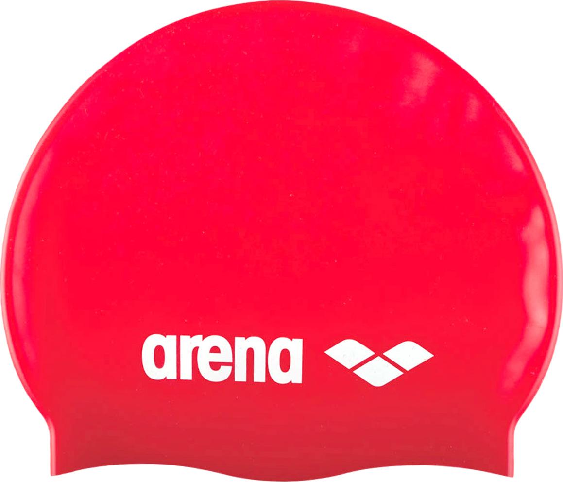 Шапочка для плавания Arena Classic Silicone Cap, цвет: красный. 91662 44 шапочка для плавания arena polyester  цвет  темно синий
