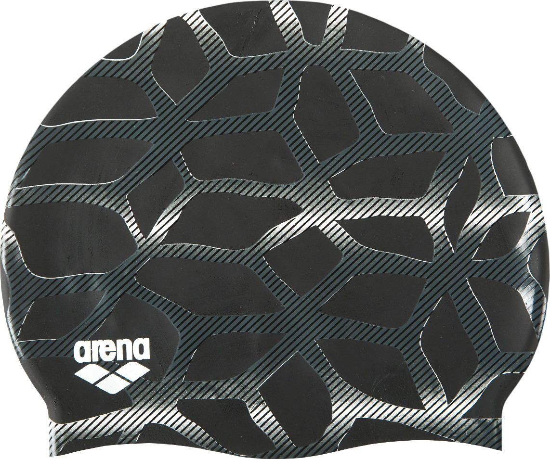 Шапочка для плавания Arena Print 2 Spider, цвет: черный. 1E368 555 шапочка для плавания arena polyester  цвет  темно синий