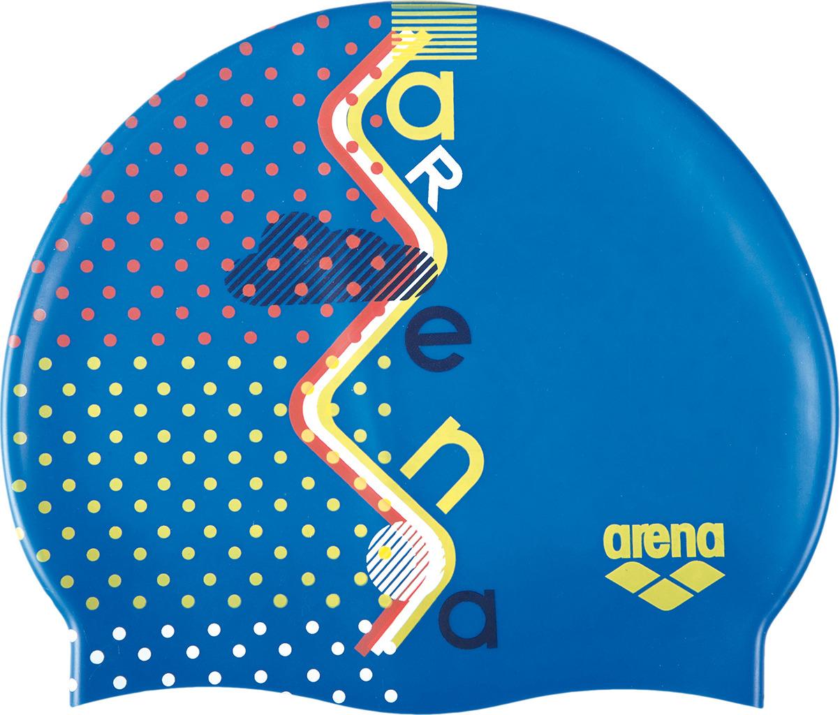 Шапочка для плавания детская Arena Print Jr, цвет: синий. 94171 711 шапочка для плавания arena polyester  цвет  темно синий