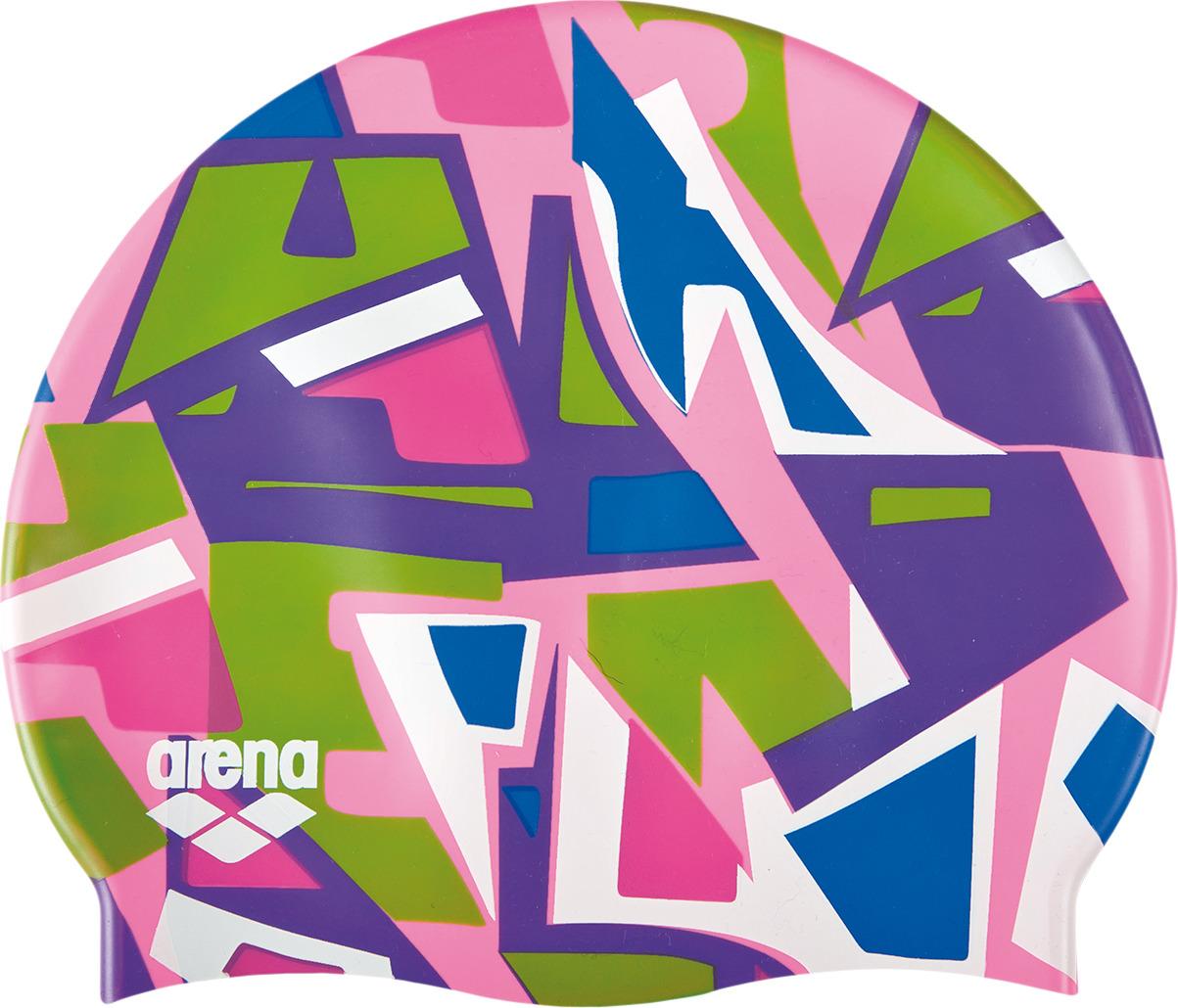 цена на Шапочка для плавания детская Arena Print Jr, цвет: розовый. 94171 910