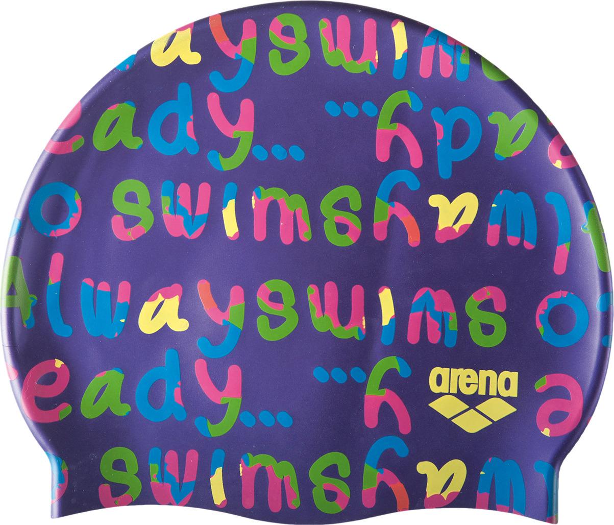 Шапочка для плавания детская Arena Print Jr, цвет: фиолетовый. 94171 981 шапочка для плавания arena polyester  цвет  темно синий