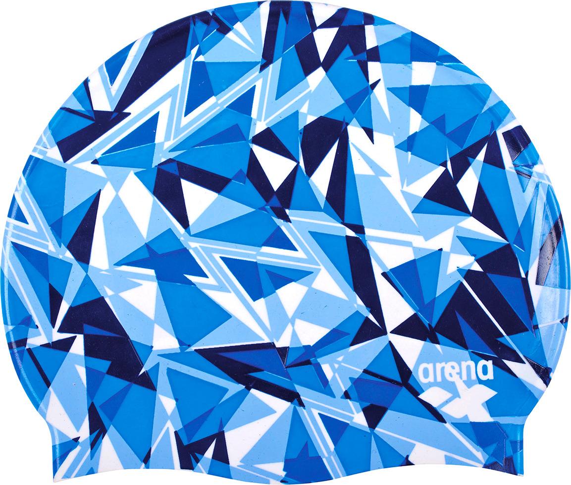 Шапочка для плавания Arena Print 2 Shattered Glass, цвет: синий. 1E368 720 шапочка для плавания arena polyester  цвет  темно синий