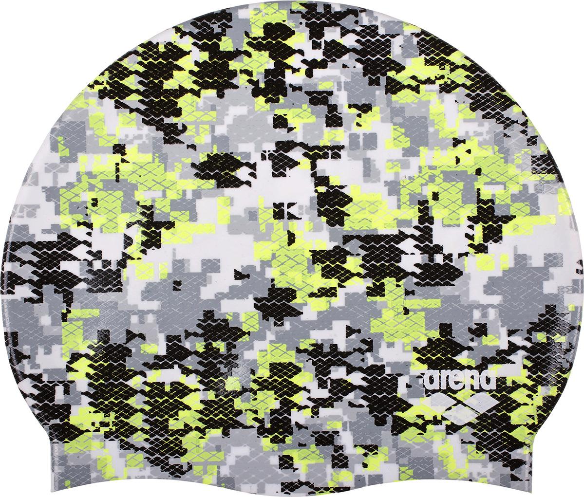 Шапочка для плавания Arena Print 2 Arena Camouflage, цвет: черный. 1E368 503 шапочка для плавания arena polyester  цвет  темно синий