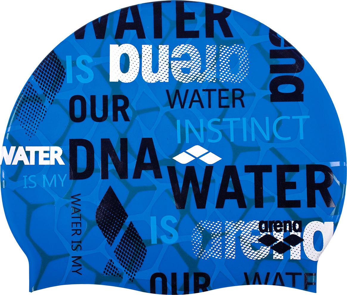 Шапочка для плавания Arena Print 2 Evolution, цвет: синий. 1E368 817 шапочка для плавания arena polyester  цвет  темно синий