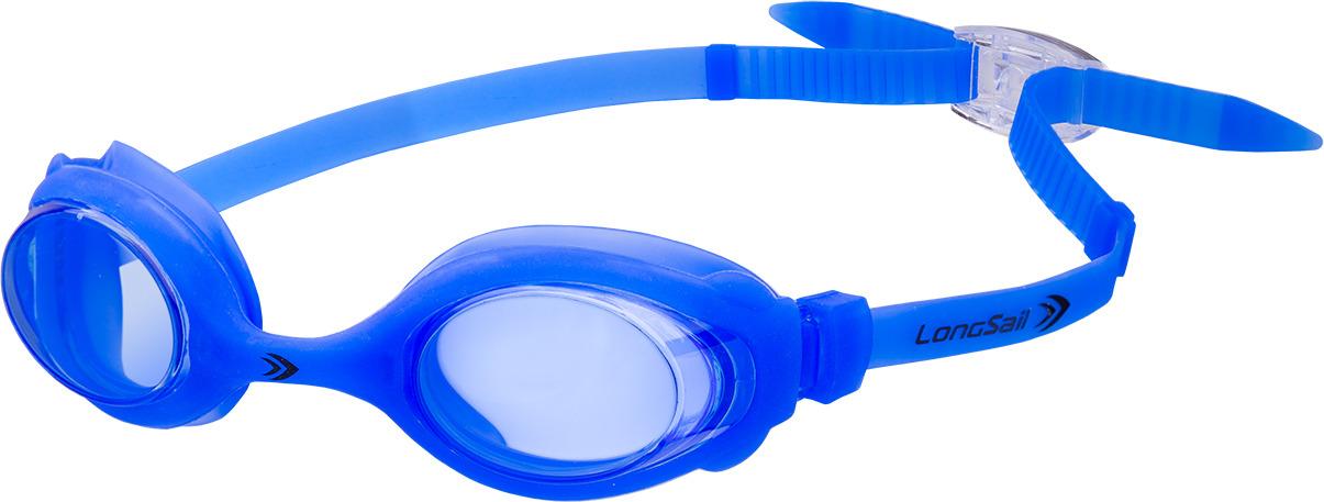 Очки для плавания детские Longsail Kids Marine, цвет: голубой. L041020 очки плавательные детские larsen dr5