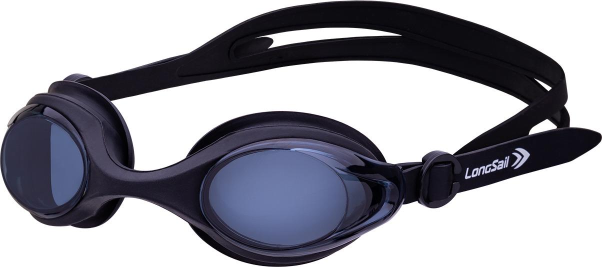Очки для плавания Longsail Motion, цвет: черный, серый. L041647 очки плавательные larsen s45p серебро тре