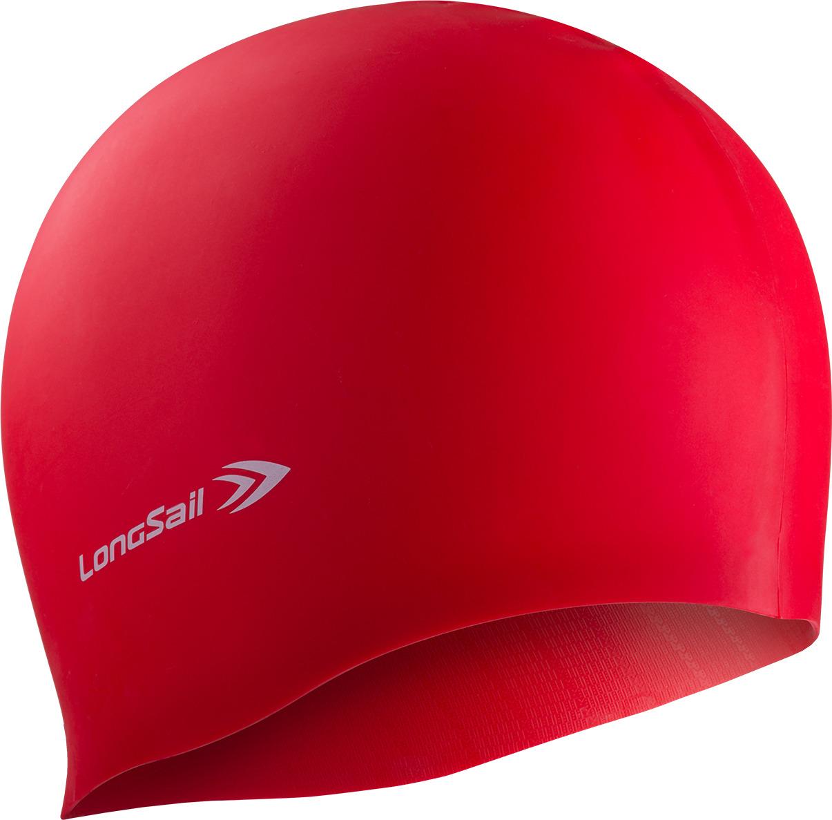 Шапочка для плавания LongSail, цвет: красный. 1/240 рио выигрывает toswim созвездие шапочки для плавания шапочки для плавания ts61401246 персонализированных тенденций моды плавания весов