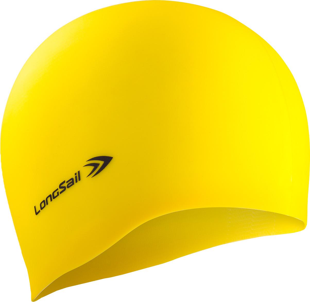 Шапочка для плавания LongSail, цвет: желтый. 1/240 рио выигрывает toswim созвездие шапочки для плавания шапочки для плавания ts61401246 персонализированных тенденций моды плавания весов