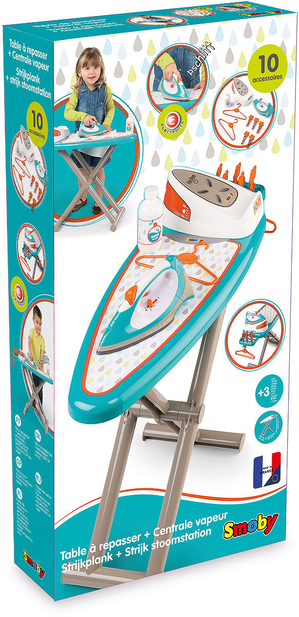 Сюжетно-ролевые игрушки Smoby Гладильная доска с утюгом и паровой станцией утюг 5 элемент