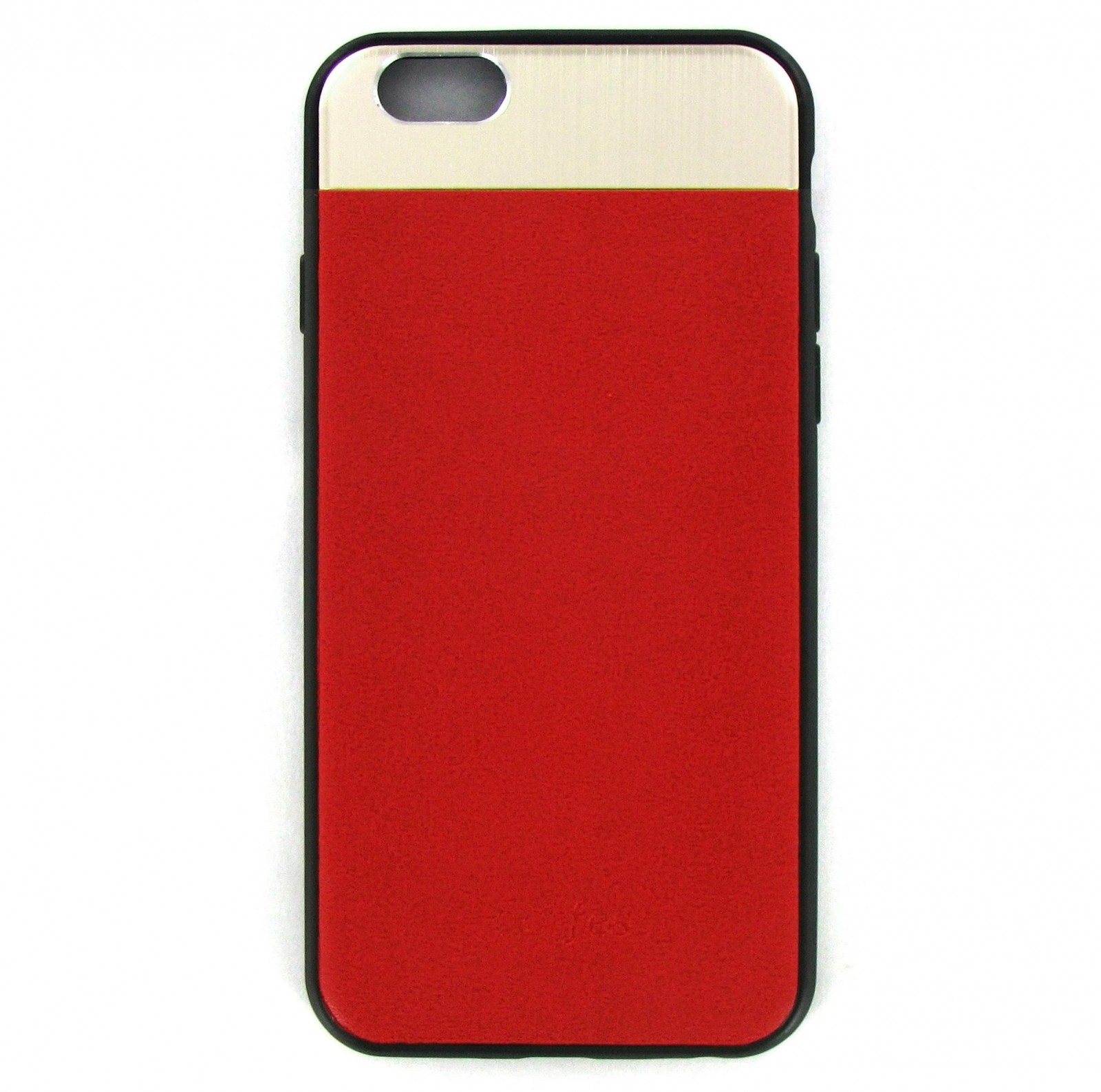 Накладка Dotfes G03 Aluminium Alloy Nappa leather Case для iPhone 6/6s, red kinston kst92536 grid pattern protective aluminium back case for iphone 6 4 7 silver