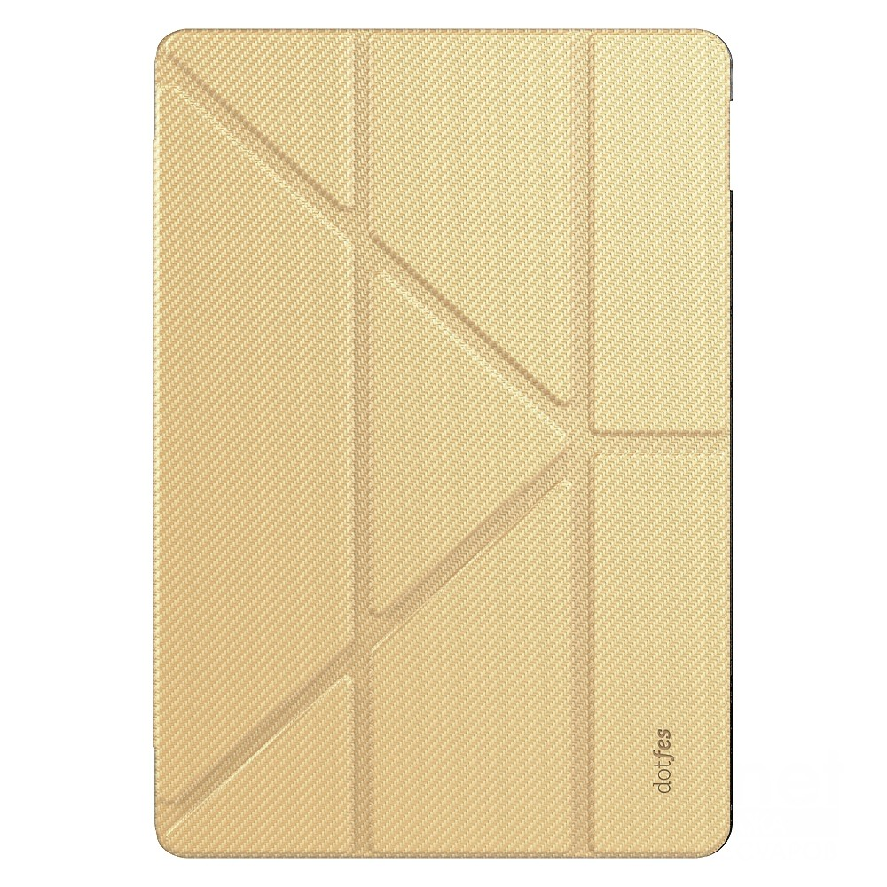 Чехол Dotfes L01 Premium Origami Smart Case with Hard Back Cover для iPad Pro 10.5, gold new 2017 luxury heavy duty shockproof hybrid rubber rugged hard impact protective skin eva case cover for ipad pro 10 5
