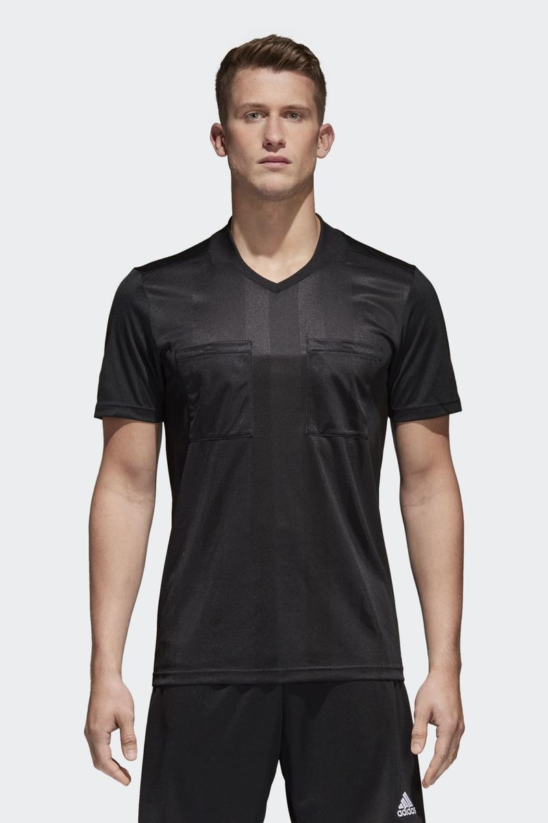 Футболка мужская Adidas Ref18 Jsy, цвет: черный. CF6213. Размер XXL (60/62) толстовка мужская adidas regi18 tr top цвет черный cz8647 размер xxl 60 62