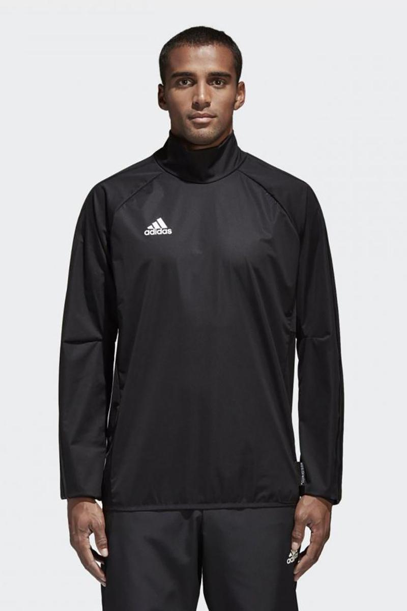 Ветровка мужская Adidas Con18 Rain Top, цвет: черный. CF4354. Размер M (48/50) ветровка мужская adidas con18 rain jkt цвет черный bq6528 размер l 52 54
