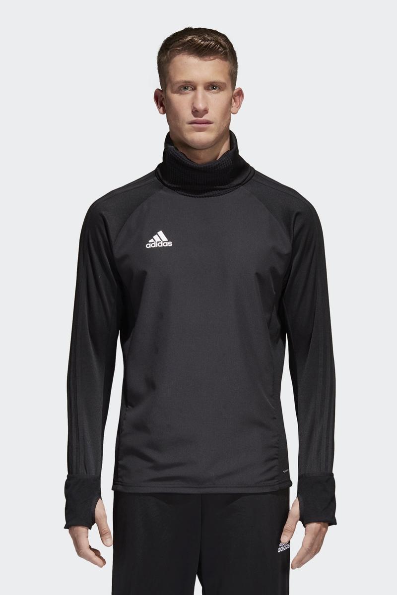Толстовка мужская Adidas Con18 Wrm Top, цвет: черный. CF4343. Размер XXL (60/62) ветровка мужская adidas con18 rain jkt цвет черный bq6528 размер l 52 54