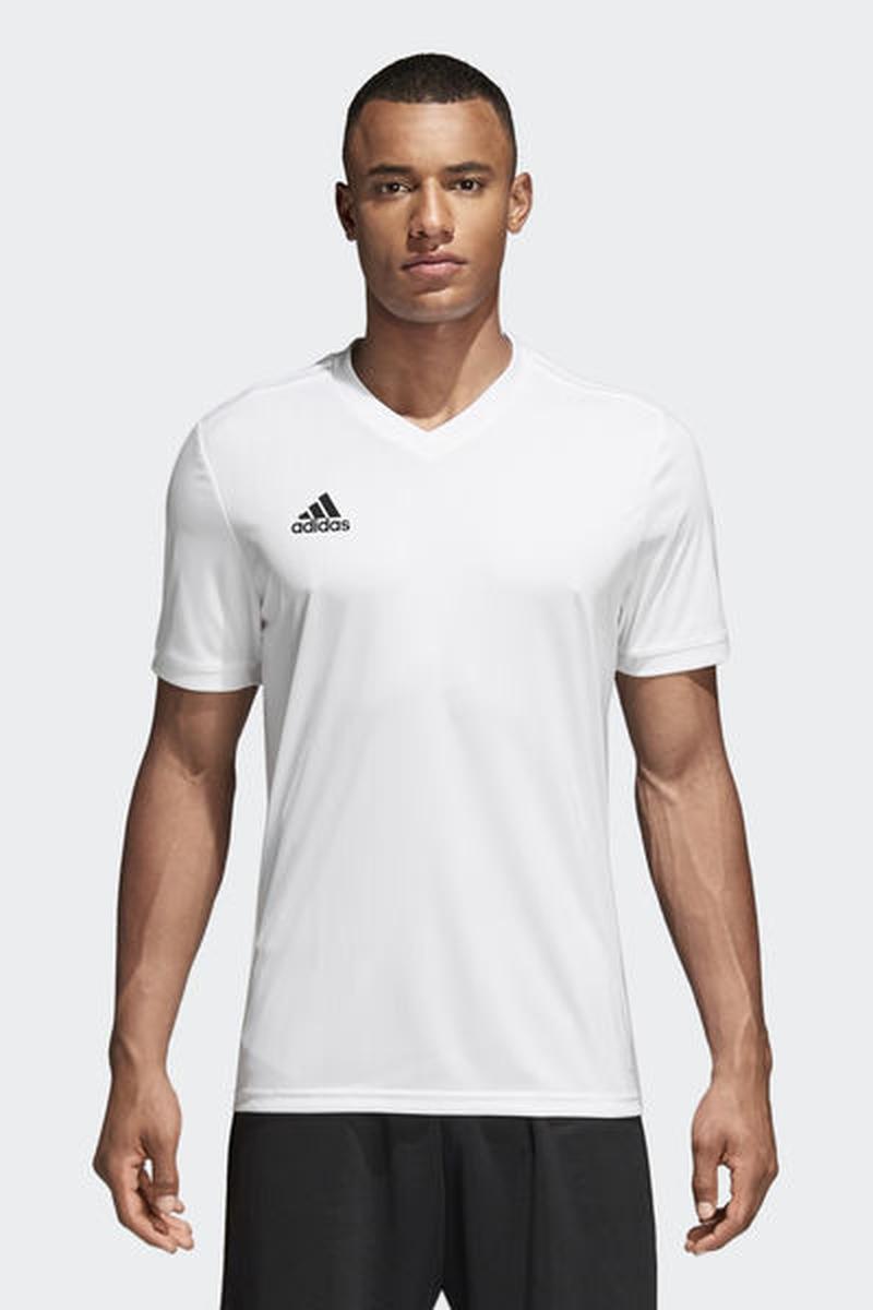 Футболка мужская Adidas Tabela 18 Jsy, цвет: белый. CE8938. Размер XXL (60/62) футболка мужская adidas regista 18 jsy цвет синий белый ce8965 размер m 48 50