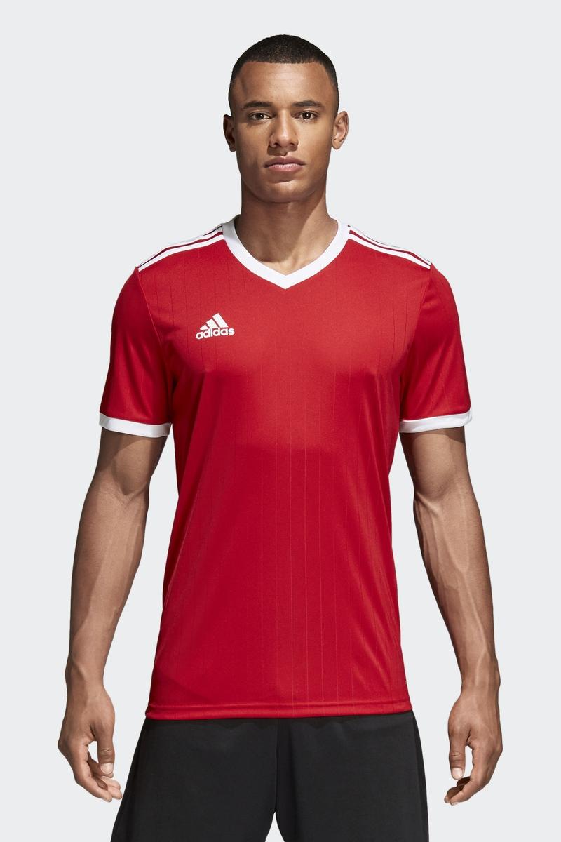 Футболка мужская Adidas Tabela 18 Jsy, цвет: красный. CE8935. Размер XXL (60/62) толстовка мужская adidas regi18 tr top цвет черный cz8647 размер xxl 60 62