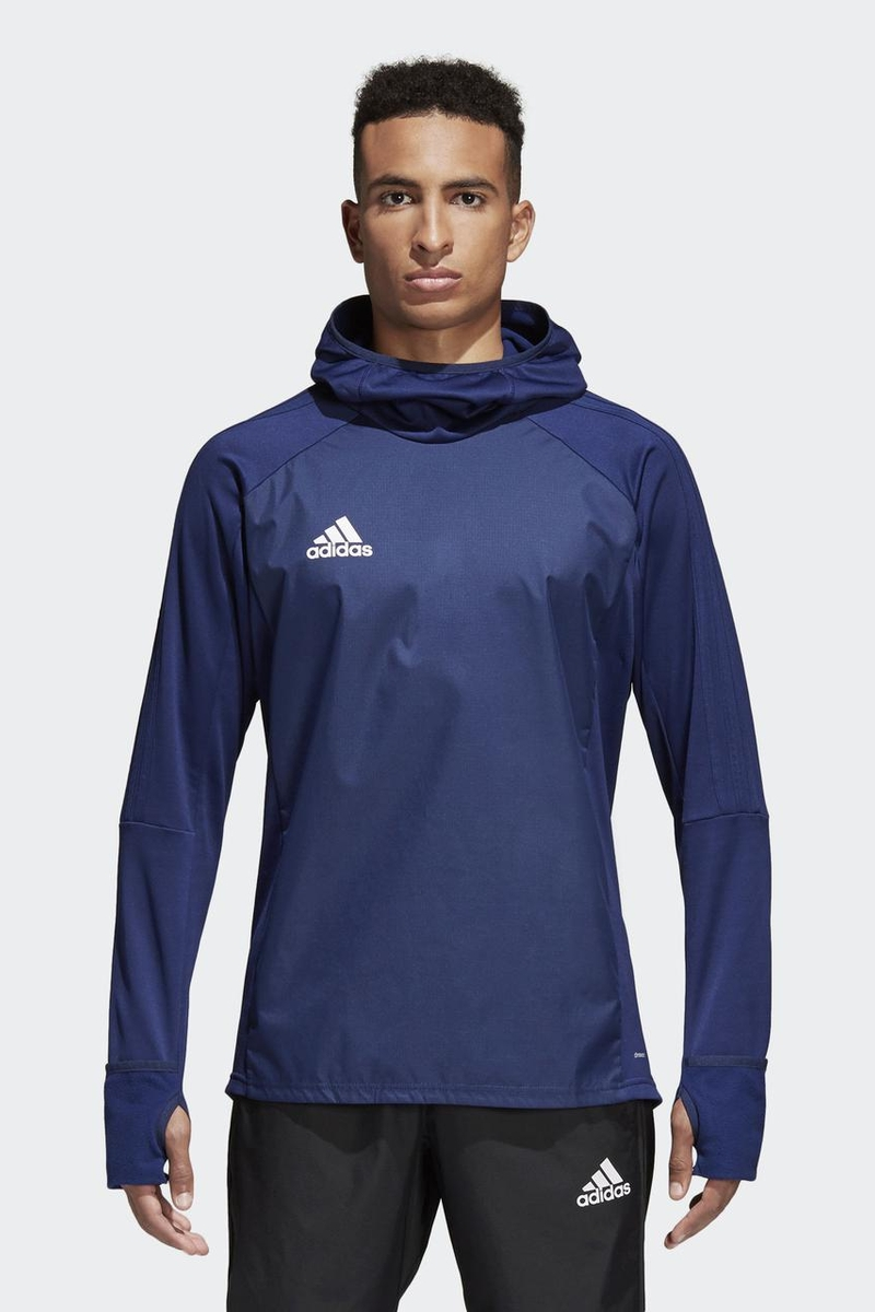 Худи мужское Adidas Tiro17 Warm Top, цвет: синий. BP5427. Размер XXL (60/62) adidas adidas компьютер рюкзак птица перо синий aj8528