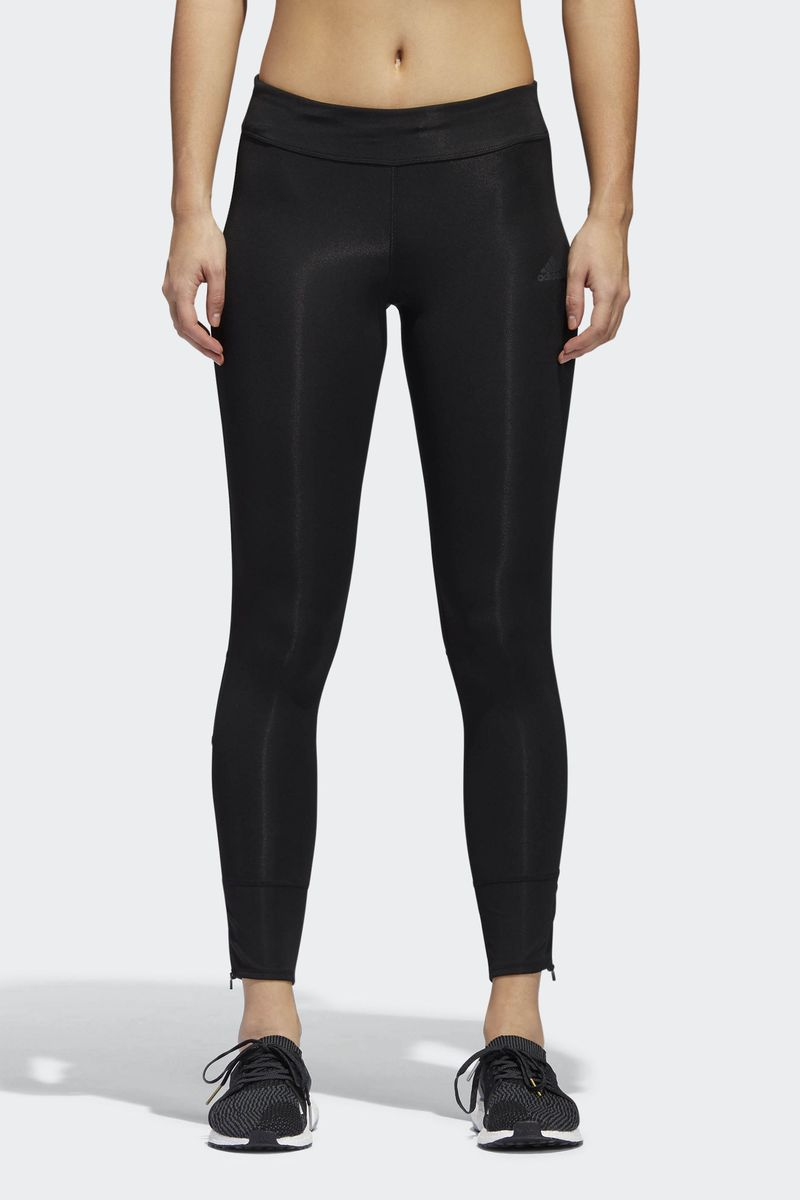Тайтсы женские Adidas Response Tight, цвет: черный. CF6237. Размер L (48/50) брюки спортивные женские adidas ess solid pant цвет серый s97160 размер l 48 50
