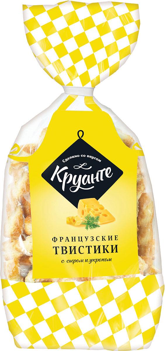 Печенье Круанте Твистики французские, с сыром и укропом печенье, 185 г мини крекер бодрость с укропом и сметаной 150г
