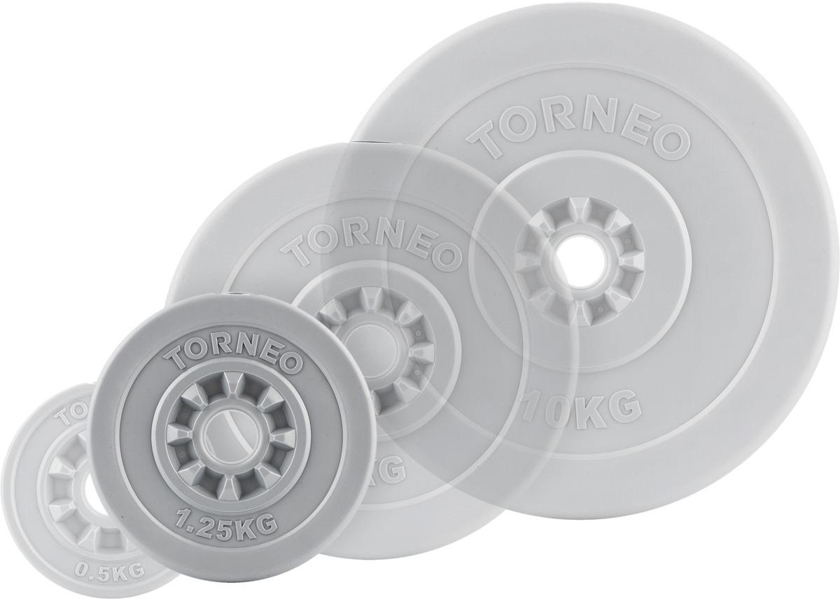 Диск для штанги Torneo, 1,25 кг. 1008-12 сетка для бадминтона со стойками torneo nt 100t