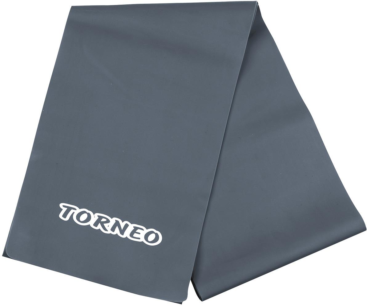 Эспандер Torneo Лента эластичная, цвет: серый сетка для бадминтона со стойками torneo nt 100t