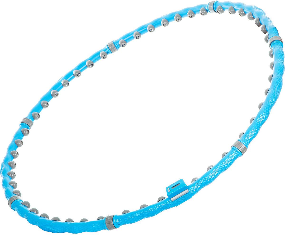 Обруч массажный Torneo, цвет: голубой обруч массажный torneo magic bio a 101m 1q голубой