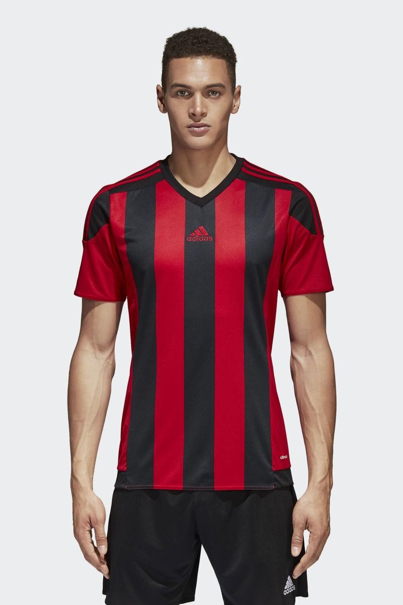 Футболка мужская Adidas Striped 15 Jsy, цвет: красный. AA3726. Размер XXL (60/62) футболка мужская adidas regista 18 jsy цвет синий белый ce8965 размер m 48 50