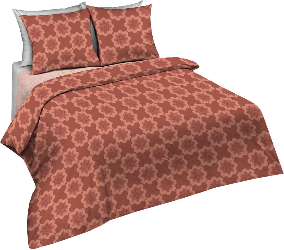 Комплект постельного белья Павлина Простые вещи, 2-х спальный, наволочки 70x70, цвет: коричневый комплект постельного белья павлина простые вещи евро наволочки 70x70 цвет коричневый