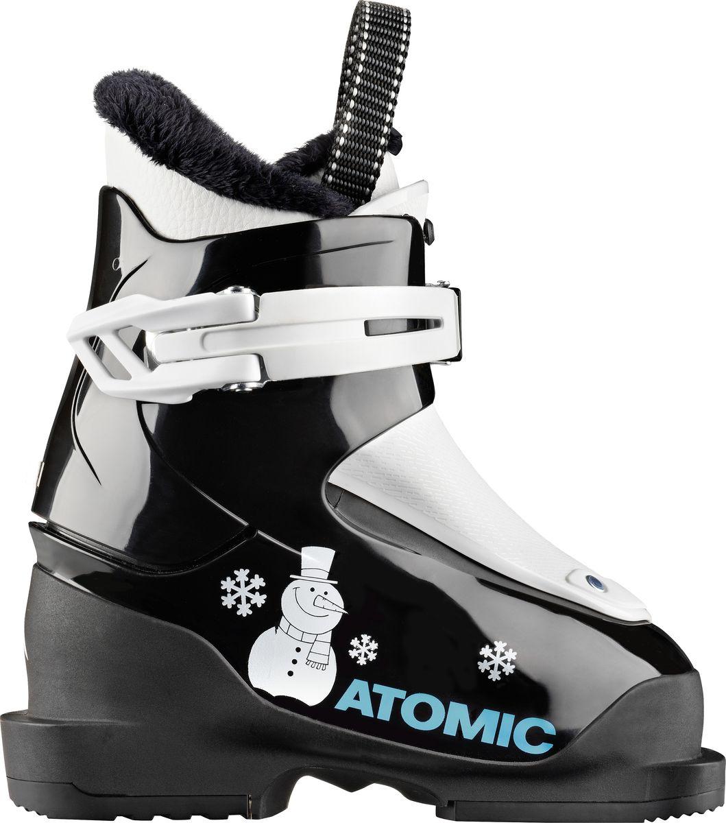 Ботинки горнолыжные Atomic Hawx Jr 1, цвет: черный, белый. Размер 24 горнолыжные ботинки atomic atomic hawx magna 110