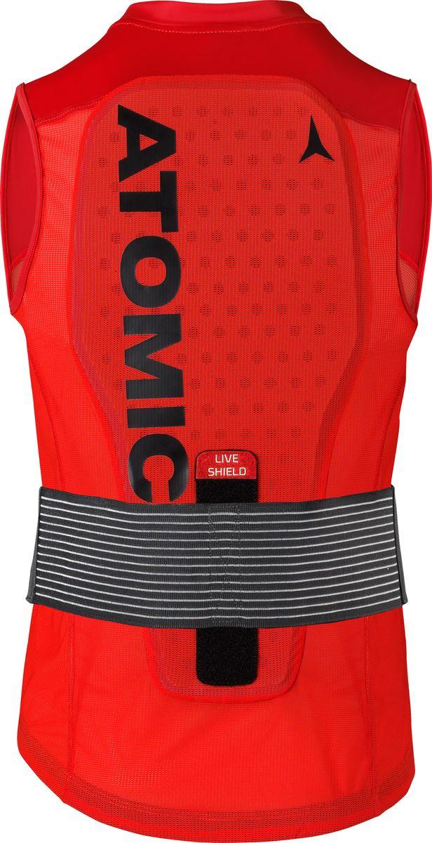 Atomic Live Shield Vest M - один из самых легких жилетов с защитой уровня 1 на рынке. Он обеспечивает великолепную защиту спины во время повседневного катания на лыжах. Изделие изготовлено из трехслойной пены разной плотности: чем ближе к телу, тем материал мягче, а чем ближе к поверхности, тем жестче. Это позволяет ему постепенно поглощать удары, прежде чем их сила достигнет тела. Сам жилет выполнен из хорошо дышащей воздушной сетки и эластичной лайкры. Благодаря технологии Active Thermo Fit изделие адаптируется к форме спины, обеспечивая точную и удобную посадку. Жилет не сковывает движений, не делает ваш силуэт громоздким и не вызывает перегрева даже весной! Он оснащен поясным ремнем, который снимается и регулируется по высоте в зависимости от индивидуальных габаритов торса, благодаря чему изделие отлично сидит.
