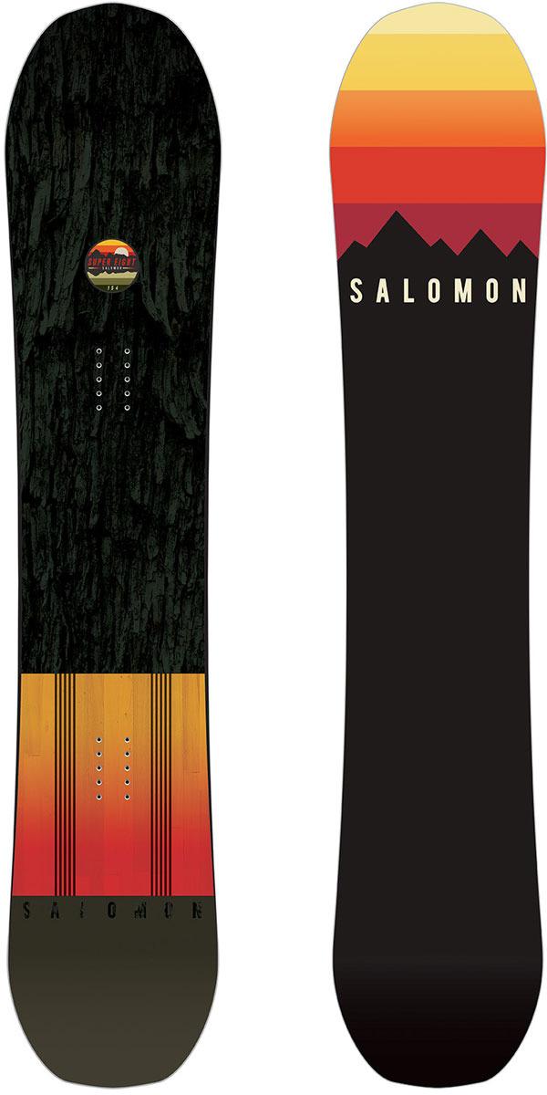 Сноуборд Salomon Super 8, цвет: черный, рост 166 см лыжи беговые salomon rs junior цвет черный рост 166 см