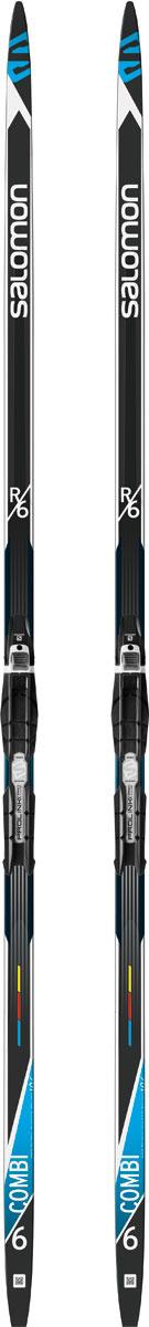 Комплект лыжный беговой Salomon R 6 Combi PM PLK Pro CO, с креплением, цвет: черный, рост 196 см atomic pro combi 178