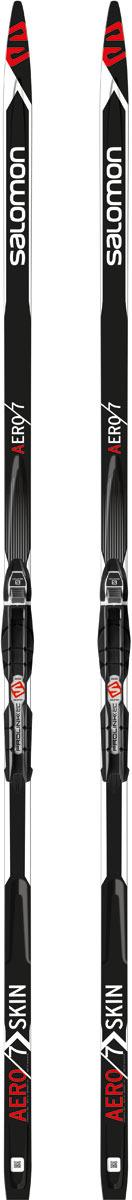 Лыжи беговые Salomon Aero 7 Skin PM PLK Access 182, цвет: черный, рост 182 см беговые лыжи salomon set esc 5 gr plk access с креплениями 206 см l391688pm