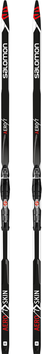 Лыжи беговые Salomon Aero 7 Skin PM PLK Access 206, цвет: черный, рост 206 см беговые лыжи salomon set esc 5 gr plk access с креплениями 206 см l391688pm