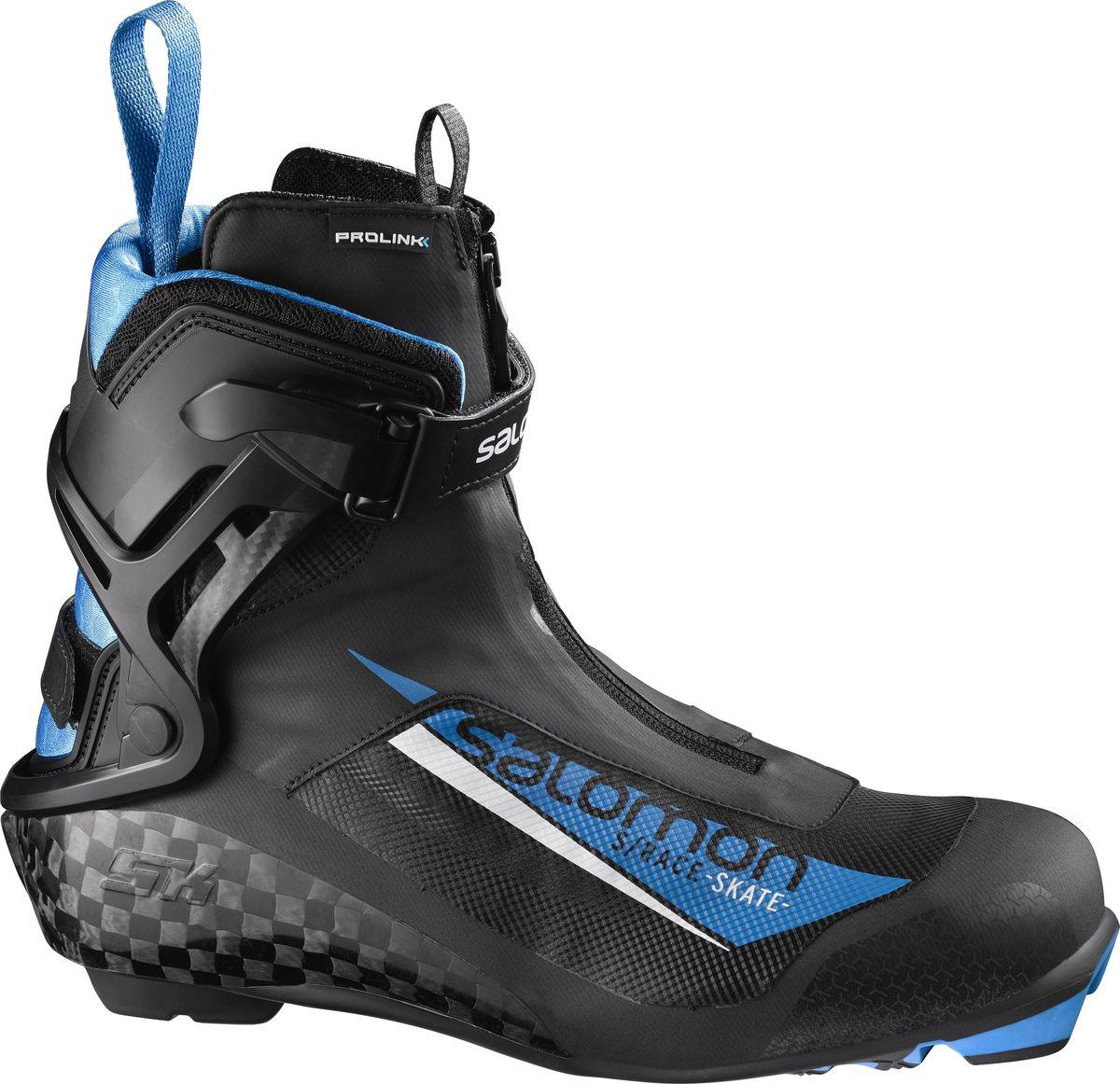 Ботинки лыжные мужские Salomon S/Race Skate Prolink, цвет: черный. Размер 11 (44,5)