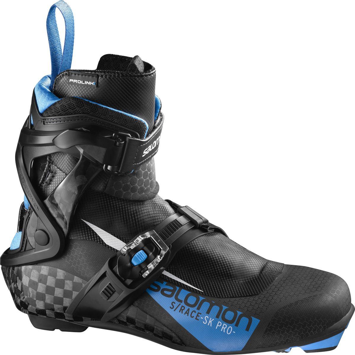 Ботинки лыжные мужские Salomon S/Race SK Pro Prolink, цвет: черный. Размер 10,5 (44) ботинки лыжные мужские salomon escape 7 prolink цвет черный размер 8 5 41