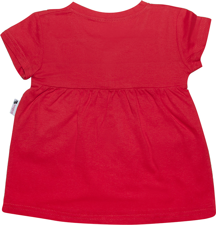 Платье для девочки Клякса, цвет:  красный.  ПЛ1-2.  Размер 104 Клякса