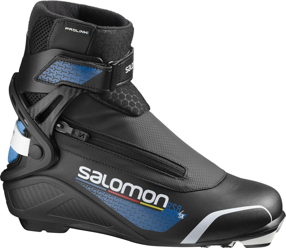 Ботинки лыжные мужские Salomon RS8 Prolink, цвет: черный. Размер 11 (44,5) ботинки лыжные мужские salomon escape 7 prolink цвет черный размер 8 5 41