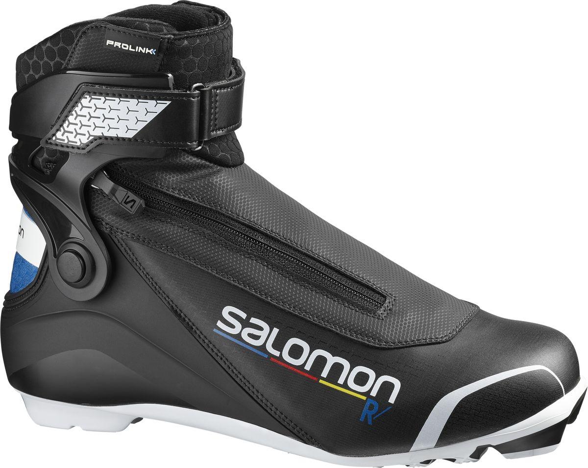 Ботинки лыжные мужские Salomon R/Prolink, цвет: черный. Размер 9,5 (42,5) ботинки для беговых лыж salomon escape 6x prolink цвет черный размер 9 5 42 5