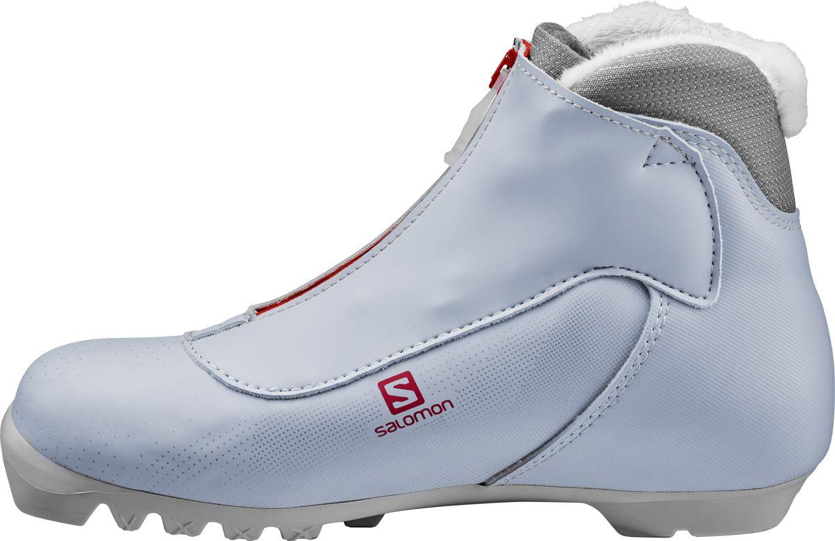 Siam 5 — это повседневные женские лыжные ботинки, где посадка и комфорт Salomon сочетаются с выгодной ценой.Женская модельКолодка, специально адаптированная под женскую ступню.УтеплениеИскусственный мех подарит тепло и уют.ЗащитаЗащита шнуровки с молнией посередине позволит не бояться ни снега, ни дождязащитаЗащита шнуровки с молнией посерединеРемешок на лодыжкеПодошваPROLINK Touring695г. для размера 5