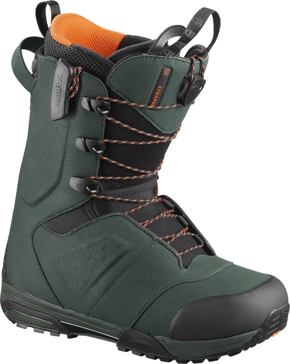 Ботинки для сноуборда мужские Salomon Synapse, цвет: темно-зеленый. Размер 46,5